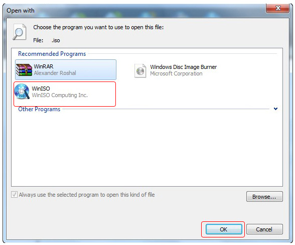 how to change iso file to exe