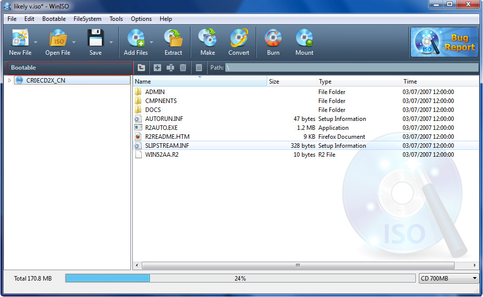 how to create iso image from dvd