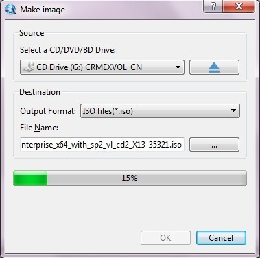 ISO Maker - How can I make an ISO image file from CD/DVD